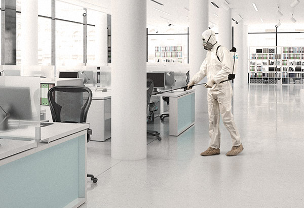 sanitizing office
